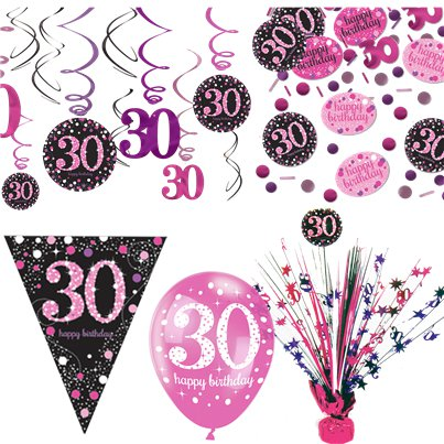 30th Pink Celebration Decorating Kit - Deluxe