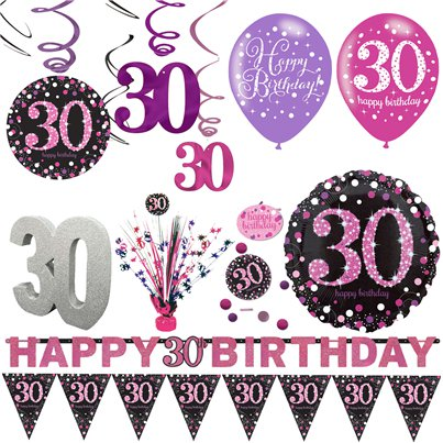 30th Pink Celebration Decorating Kit - Premium