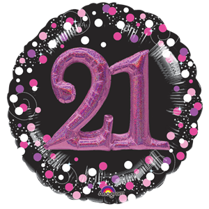 21st Birthday Pink Sparkling Celebration 3D Multi- Balloon - 32