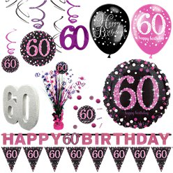 60th Pink Celebration Decorating Kit - Premium