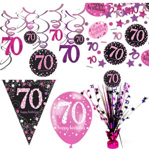 70th Pink Celebration Decorating Kit - Deluxe