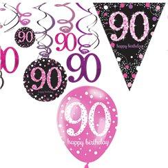 90th Pink Celebration Decorating Kit