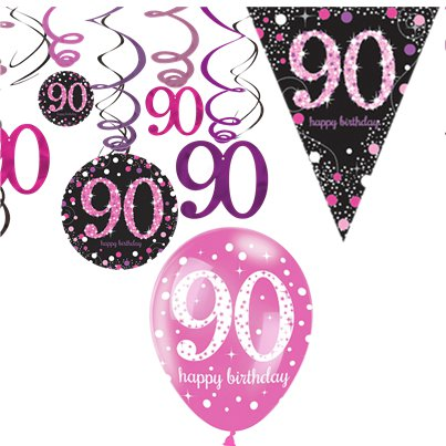 90th Pink Celebration Decorating Kit - Value