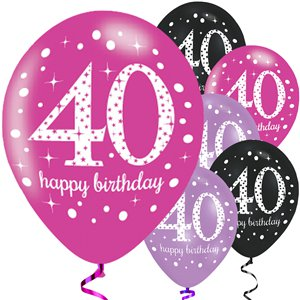 40th Pink Celebration Decorating Kit - Deluxe