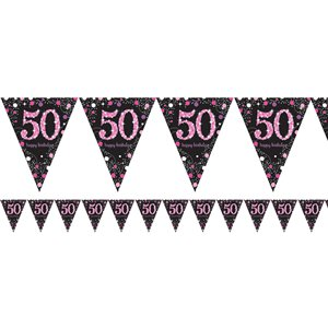 50th Pink Celebration Decorating Kit - Deluxe