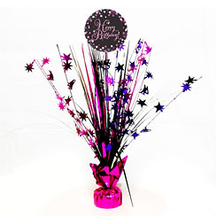 Pink Sparkling Celebration Happy Birthday Centrepiece - Table Decoration