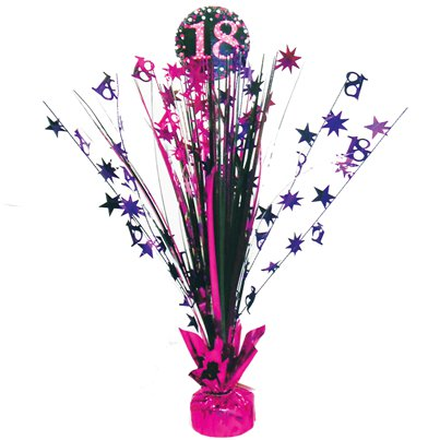 Pink Celebration Age 18 Table Centrepiece - 46cm