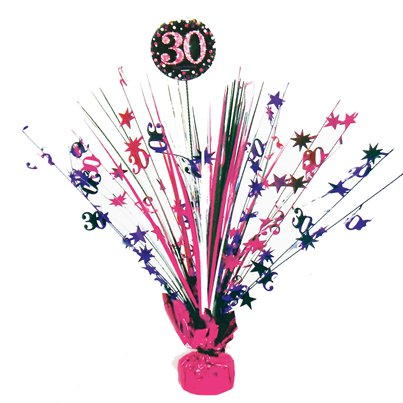 Pink Celebration Age 30 Table Centrepiece - 46cm