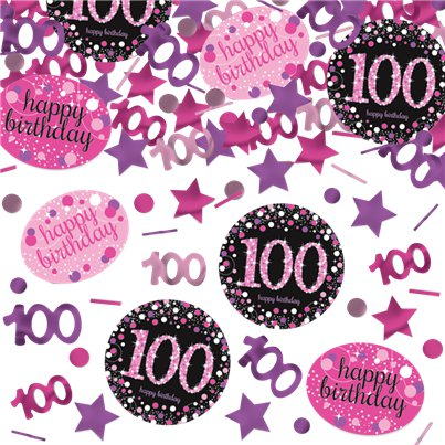 Pink Celebration Age 100 Confetti - 34g