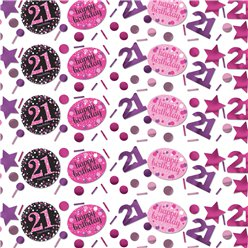 Pink Celebration Age 21 Confetti - 34g