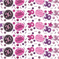 Pink Celebration Age 30 Confetti - 34g