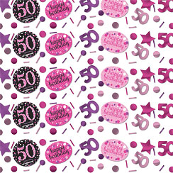 Pink Celebration Age 50 Confetti - 34g