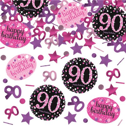 Pink Celebration Age 90 Confetti - 34g