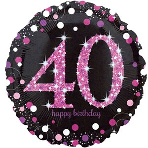 40th Pink Celebration Decorating Kit - Premium