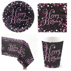 Pink Celebration Party Pack - Value Pack For 8