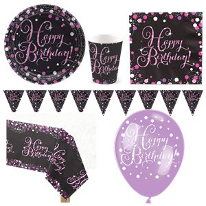 Pink Celebration Party Pack - Deluxe Pack for 8