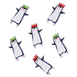 Penguin Parade Wooden Scatter Confetti
