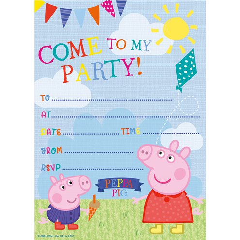 Peppa Pig Invites Party Invitation Cards