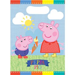 Peppa Pig Party Bags - Plastic Loot Bags