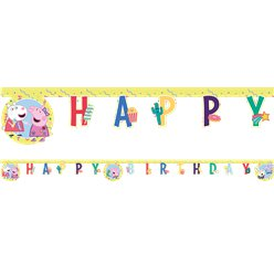 Peppa Pig Messy Play Birthday Banner - 2m