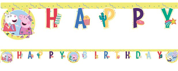 Peppa Pig Messy Play Birthday Banner