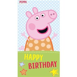 Peppa Pig Happy Birthday Card