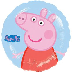 "Peppa Pig Blue Round Balloon - 18"" Foil"