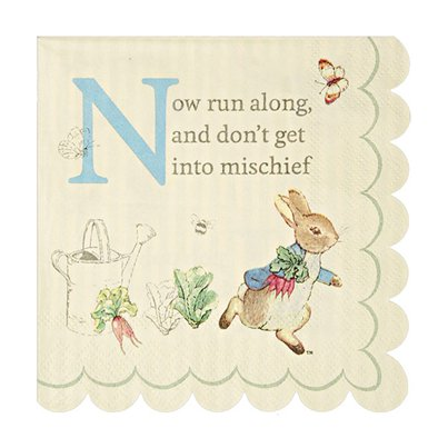 Peter Rabbit Paper Beverage Napkins - 25cm