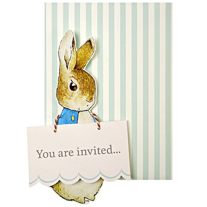 Peter Rabbit Party Invitation Cards