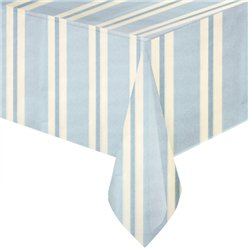 Blue Stripe Paper Tablecover - 1.4m x 2.6m