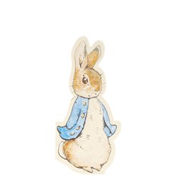 Peter Rabbit Shaped Paper Napkins - 20cm