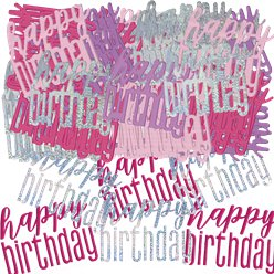 Pink Birthday Glitz Confetti - 14g bag