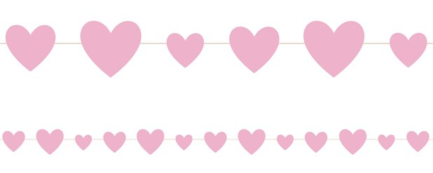 Pink Hearts Baby Shower Garland - 2.75m