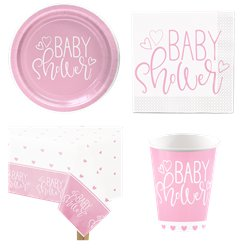 Pink Hearts Party Pack - Value Pack For 8