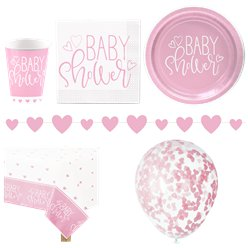 Pink Hearts Party Pack - Deluxe Pack For 16