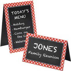 Picnic Party Chalkboard Place Cards - 15cm