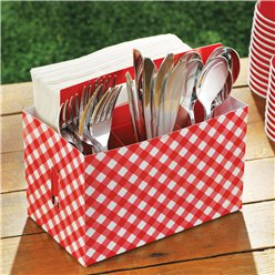 Picnic Party Utensil Caddy - 19cm