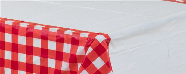 Picnic Party Plastic Tablecover - 1.37m x 2.6m