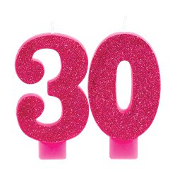 30th Pink & Gold Milestone Candles