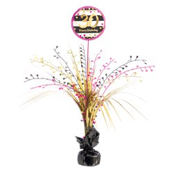 30th Pink & Gold Milestone Spray Centrepiece