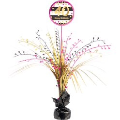 40th Pink & Gold Milestone Spray Centrepiece