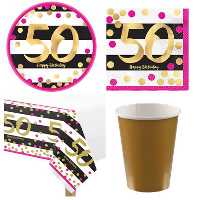 50th Pink Gold Party Pack