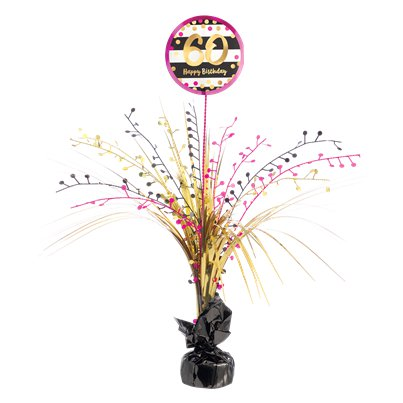 60th Pink & Gold Milestone Spray Centrepiece