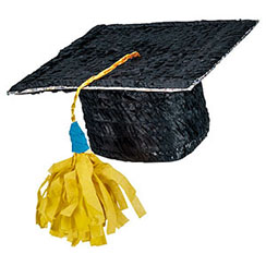 Graduation Mortar Hat Piñata - 50cm tall