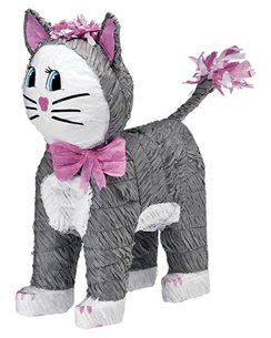 Grey Cat Piñata - 46cm tall