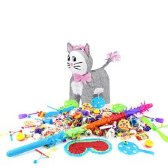 Grey Cat Piñata Kit