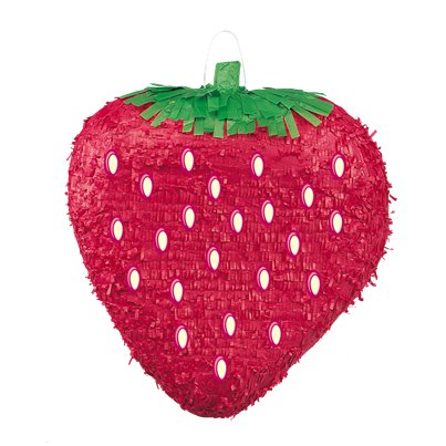Strawberry Piñata - 34cm tall