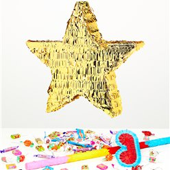 Gold Foil Star Piñata Kit