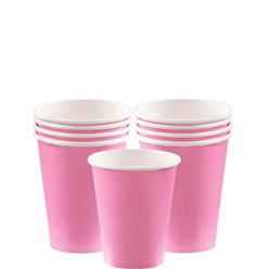 Baby Pink Cups - 266ml Paper Party Cups