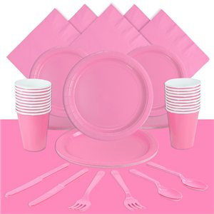 Baby Pink Party Pack For 20 People